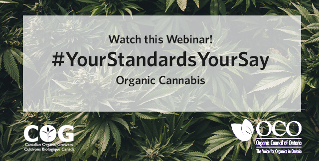 Organic Council Cannabis Webinar